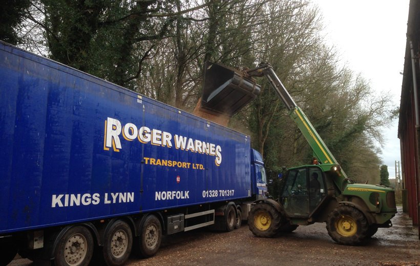 Loading our woodchip ready for dispatch